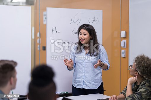 istock Multi-racial college study group 987366504
