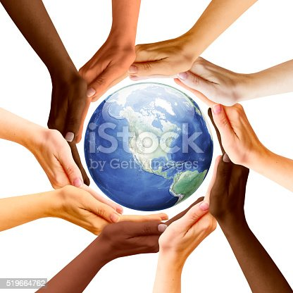 istock Multiracial Concept and Earth Planet 519664762