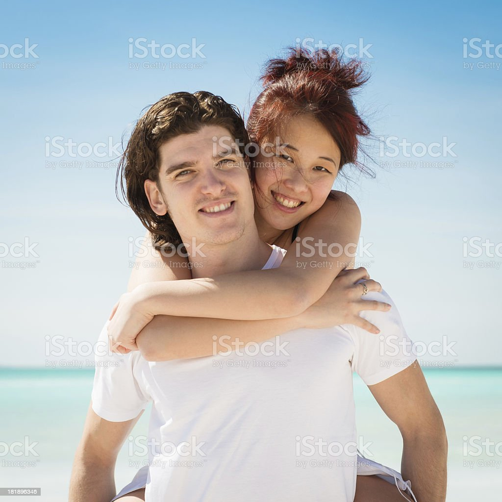 multiracial couple dreaming togethernes stock photo