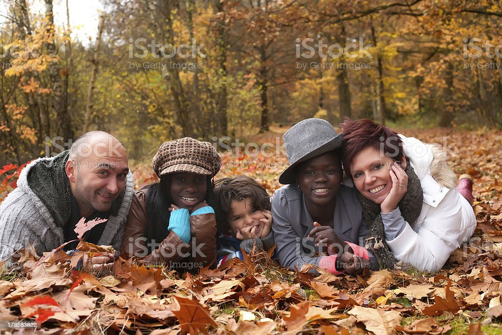 Multiracial family stock photo