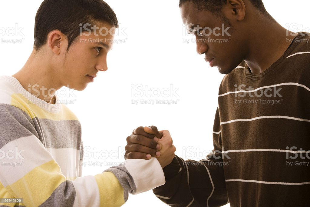multiracial friends royalty-free stock photo