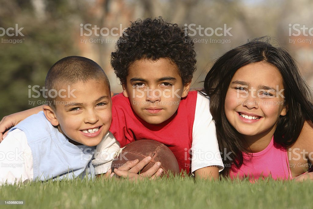 Multiracial Group of Kids royalty-free stock photo