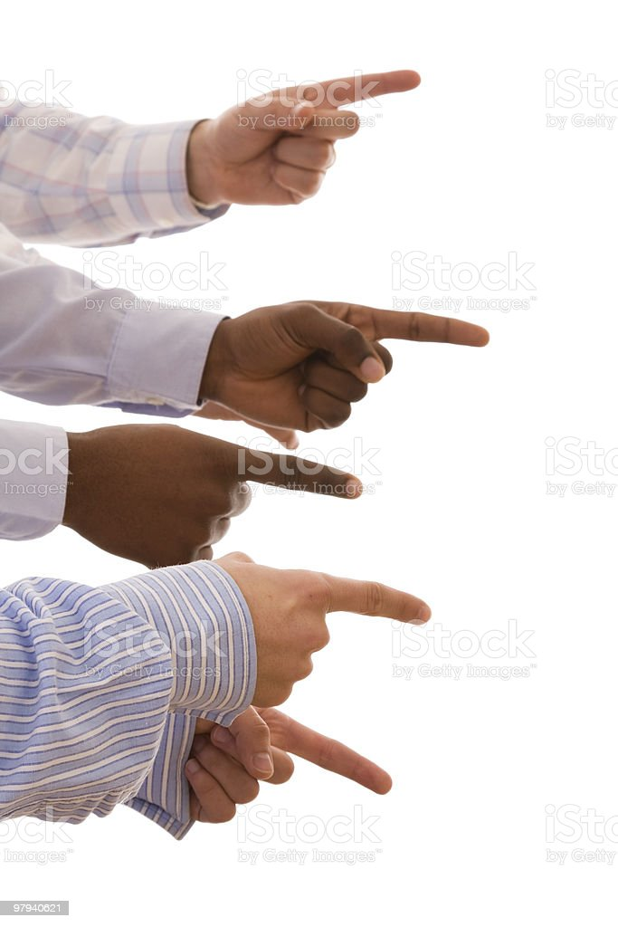 multiracial hands royalty-free stock photo
