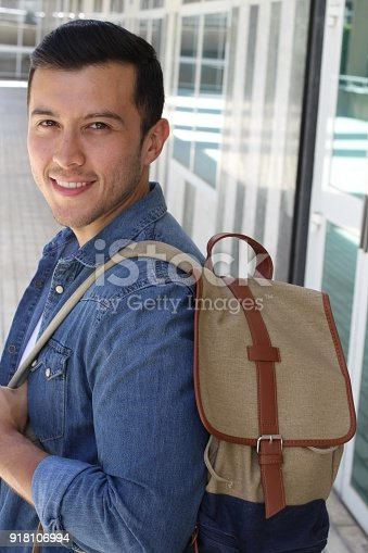868483314 istock photo Multiracial male smiling with copy space 918106994