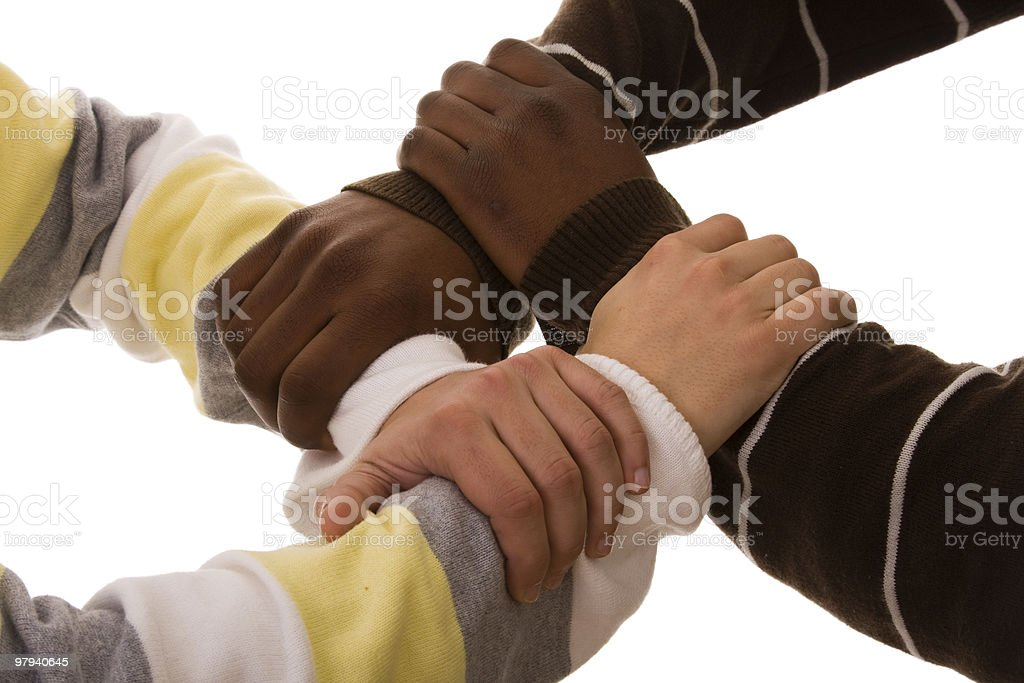 multiracial team royalty-free stock photo