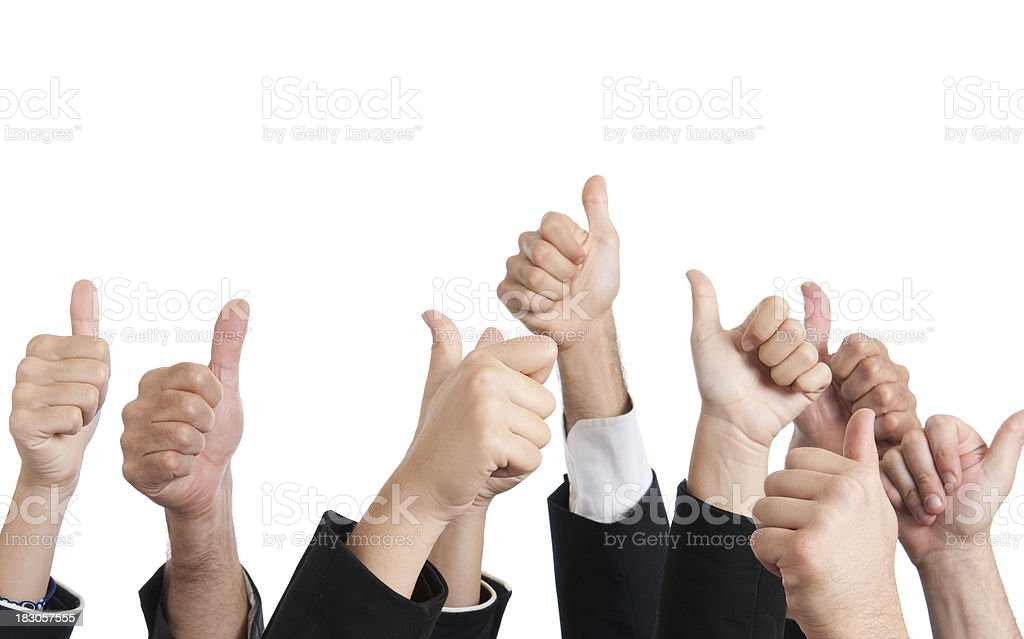 multiracial thumbs up royalty-free stock photo