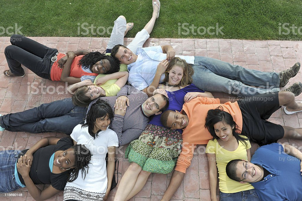 Multi-racial young adults stock photo