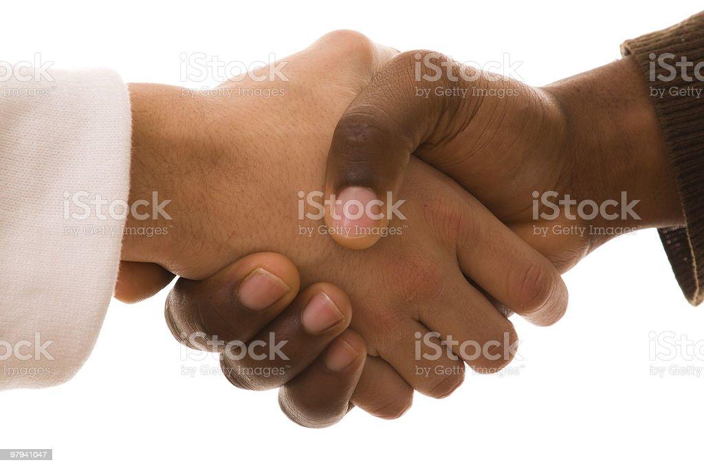 multirracial handshake royalty-free stock photo