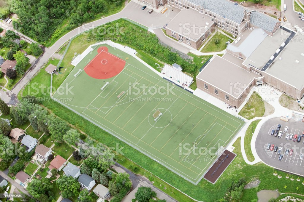 Multi-Sports Athletic Field Aerial royalty-free stock photo