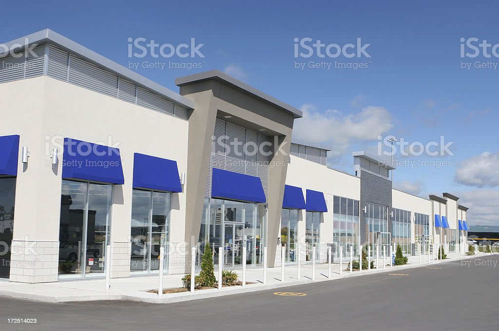 Multi-Stores Building Exterior stock photo