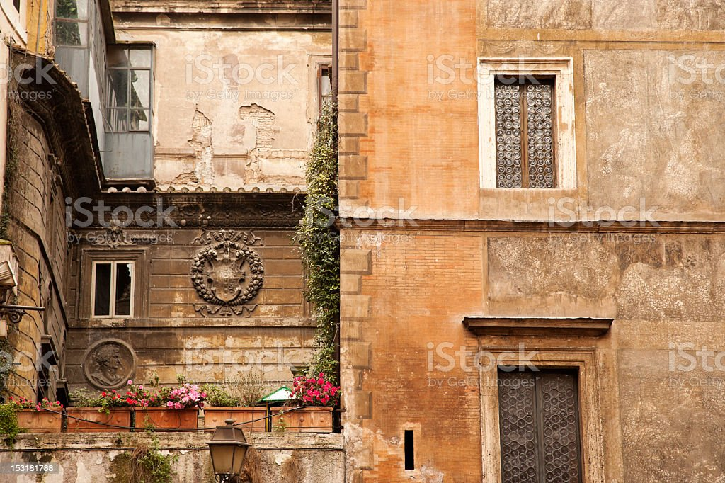 Multi-story Tuscan Architecture royalty-free stock photo