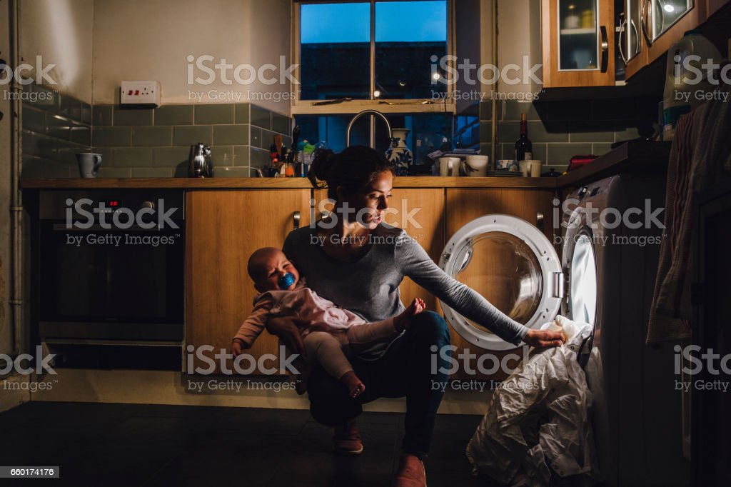 Multi-Tasking Mother stock photo
