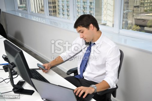 Multitasking Office Worker Stock Photo & More Pictures of ...