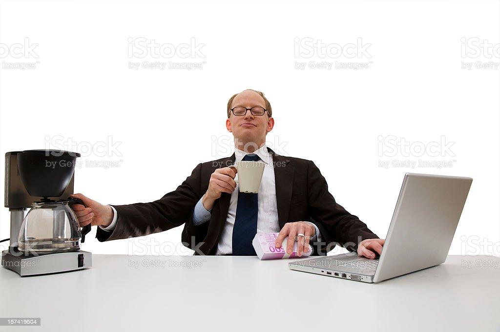 Multitasking royalty-free stock photo