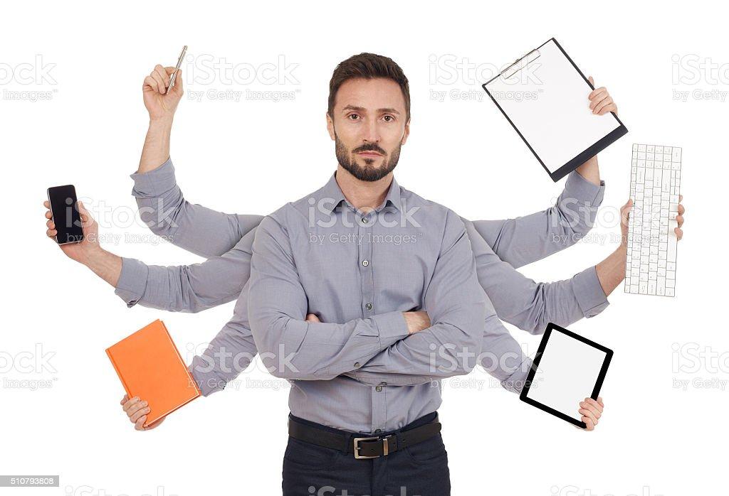 Multi-tasking stock photo