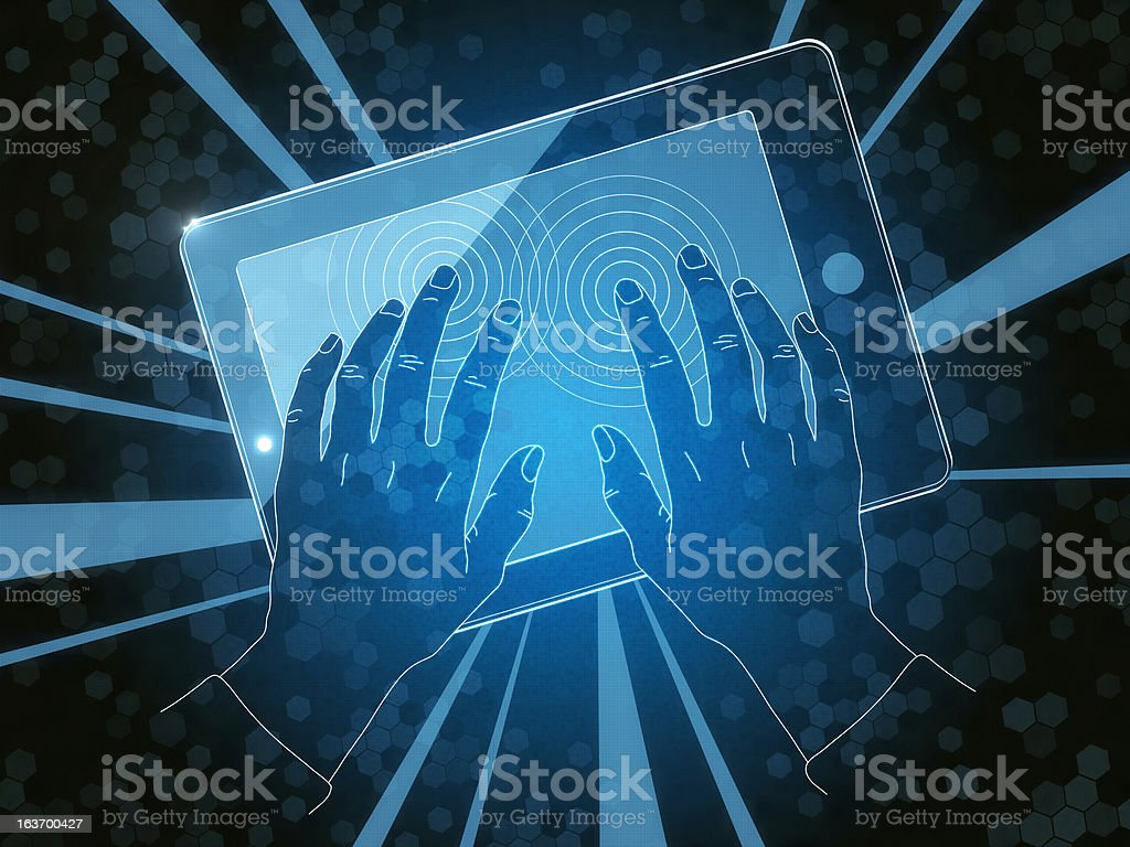 Multitouch royalty-free stock photo