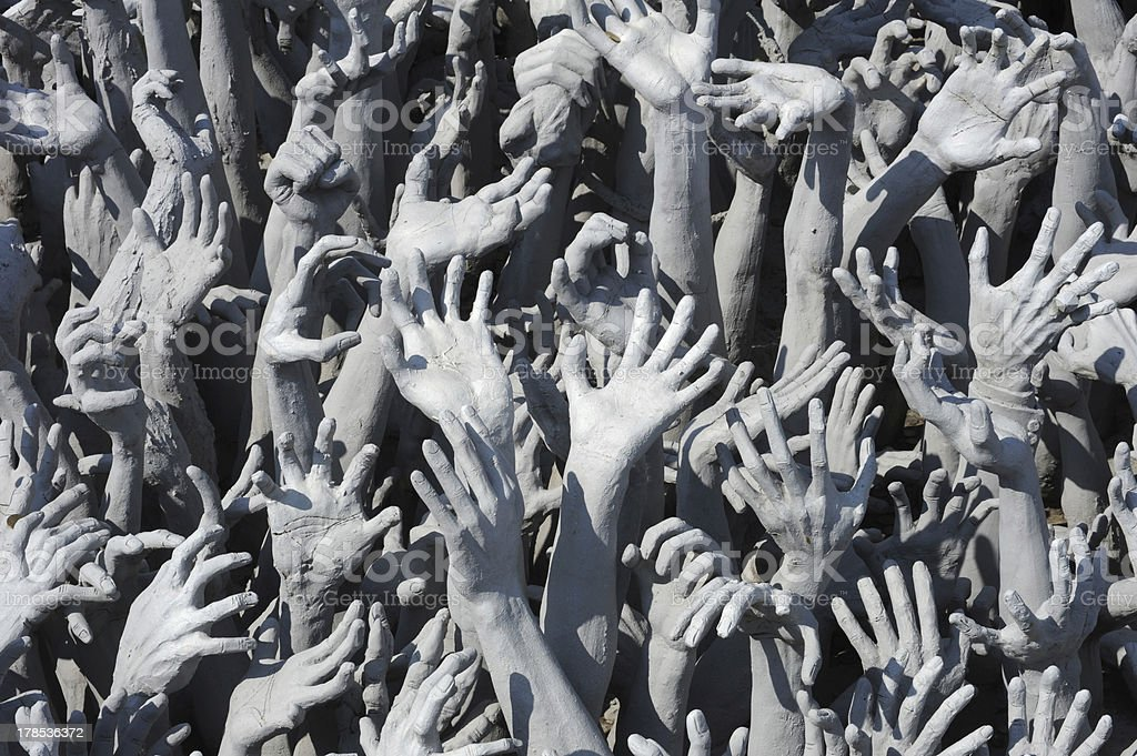 multitude of Hands royalty-free stock photo