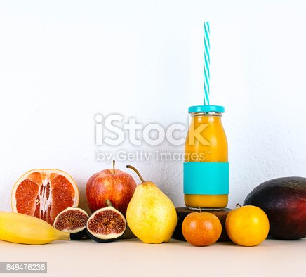 istock Multivitamin juice with seasonal fruits. 849476236