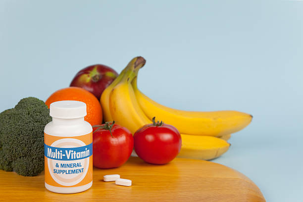 Multi-Vitamin Still Life stock photo