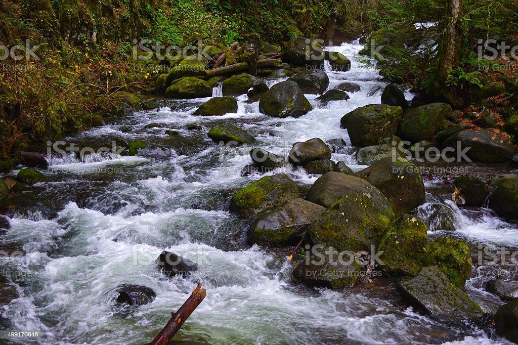 Multnomah Coldwater Creek stock photo