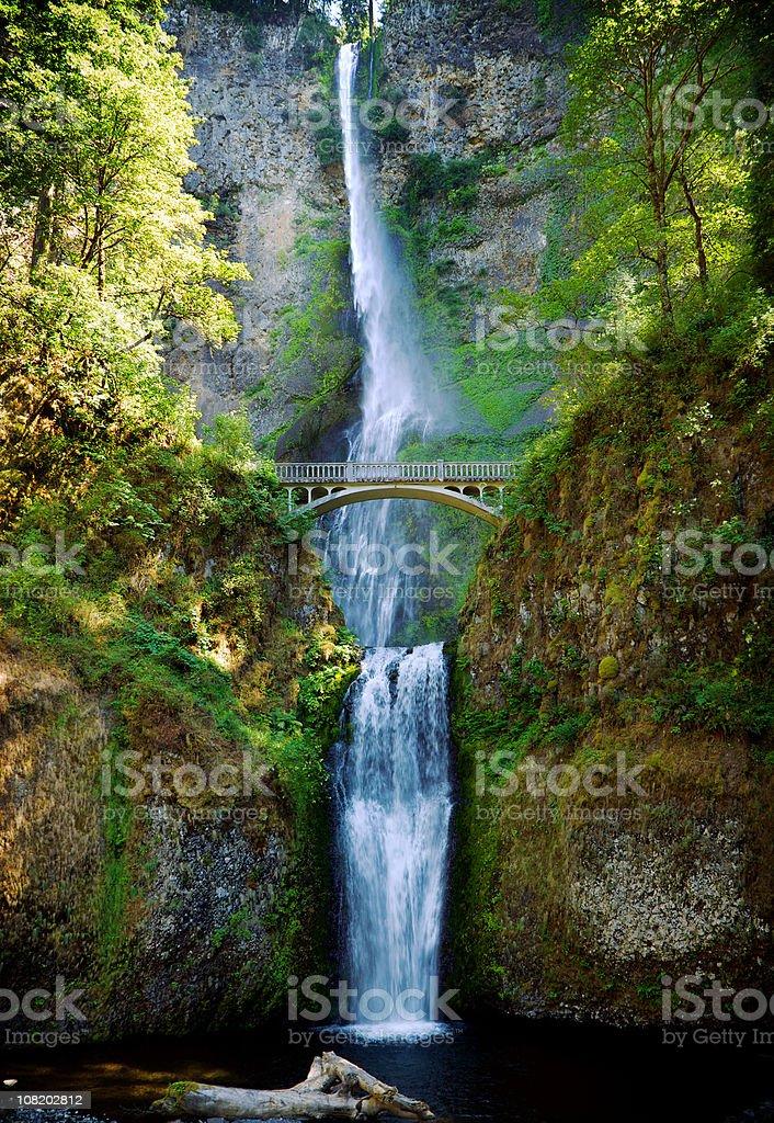 Multnomah Falls Oregon waterfall royalty-free stock photo