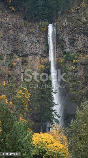 Waterfalls in the Columbia River Gorge are incredibly beautiful especially with the backdrop and cooler temperatures of Autumn