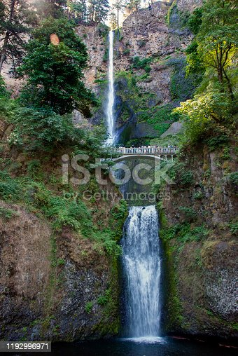 Oregon's tallest waterfall Multnomah Falls near Portland, USA