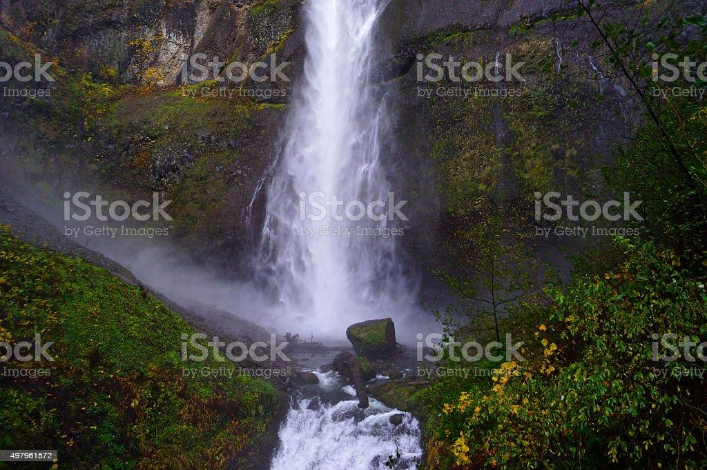 Multnomah Falls Splash stock photo