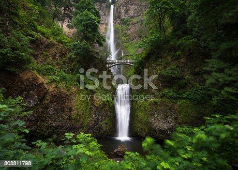 Flowing Water, Silk, Springtime, Waterfall, Multnomah Falls
