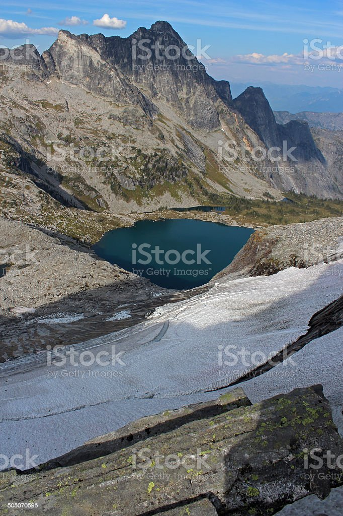Mulvey Basin in the Valhallas Ranges stock photo