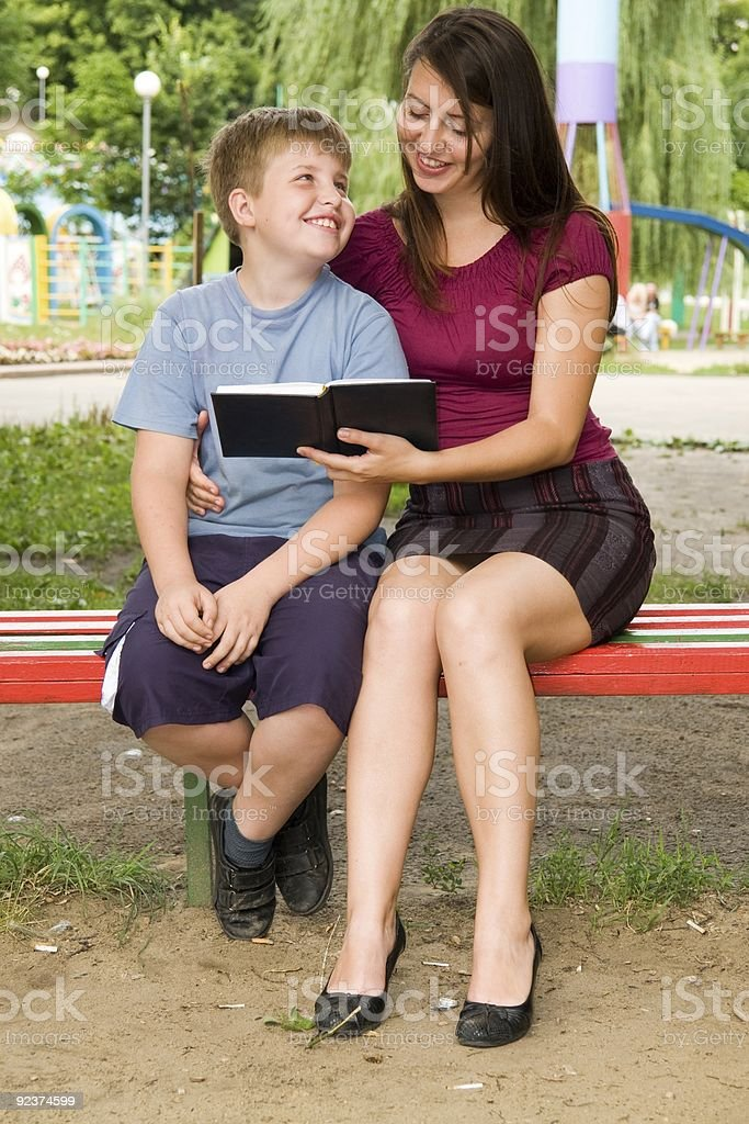 Mum and the son royalty-free stock photo
