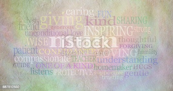 istock Mum Word Cloud on parchment 687512532