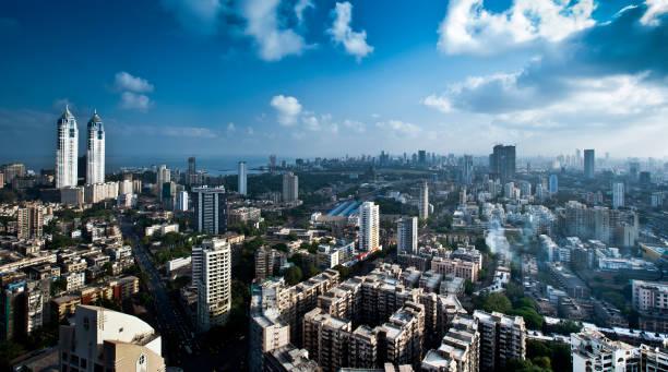 mumbai luchtfoto 08 - mumbai stockfoto's en -beelden