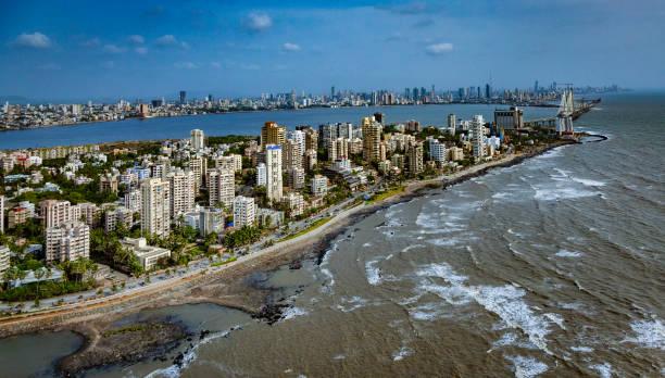 mumbai luchtfoto van helicopter 03 - mumbai stockfoto's en -beelden
