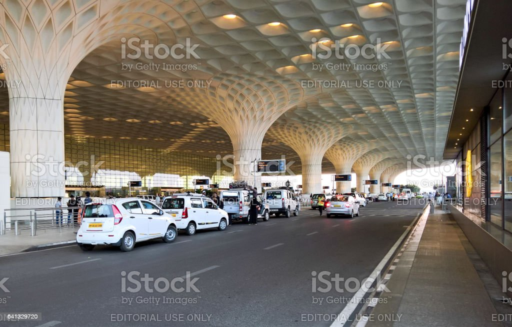 Mumbai Airport Terminal Entrance stock photo