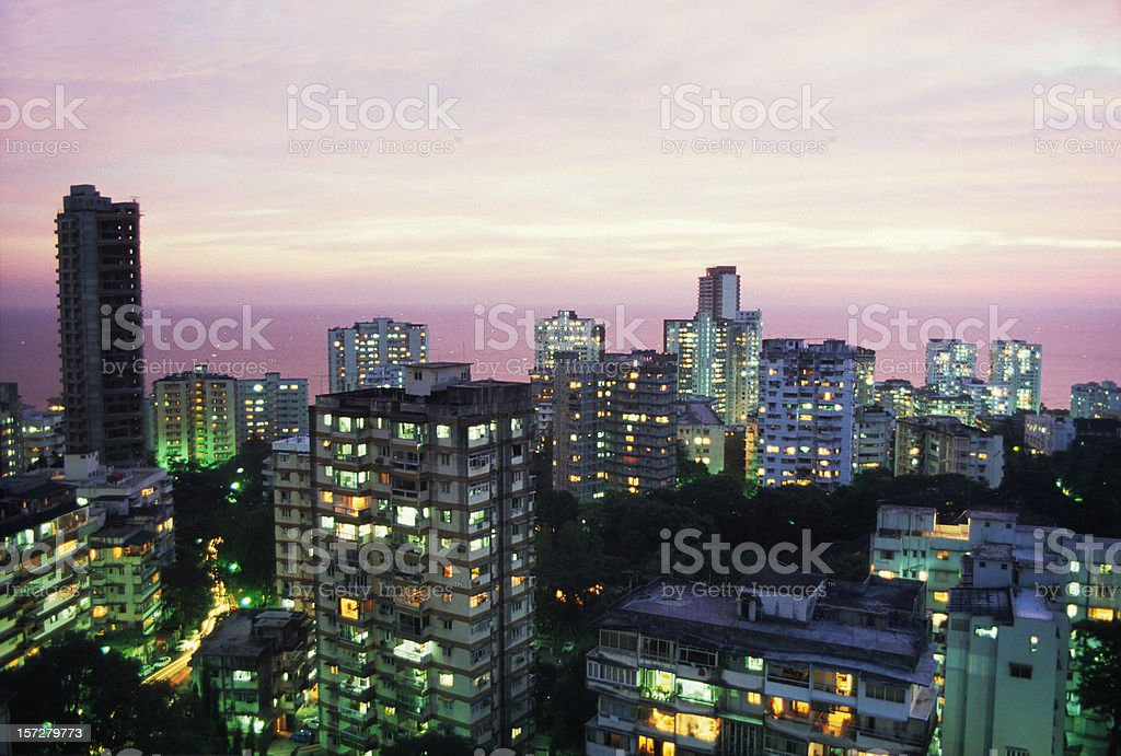Mumbai at dusk stock photo