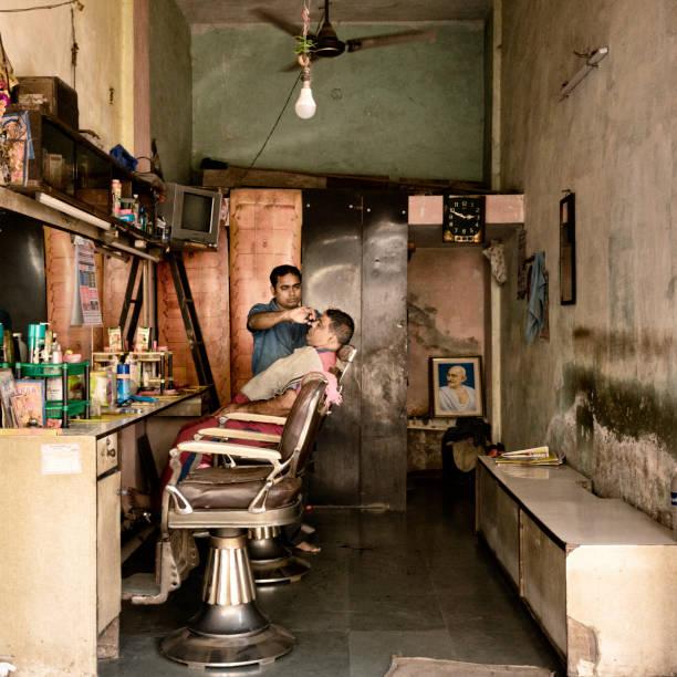 Friseurgeschäft in Mumbai – Foto
