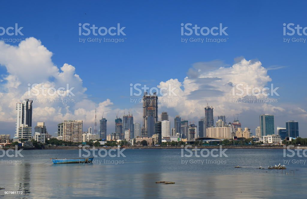 Mumbai Bombay downtown skyscraper cityscape India stock photo