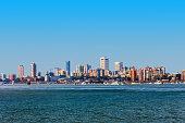istock Mumbai city skyline panoramic view, India 1287053436