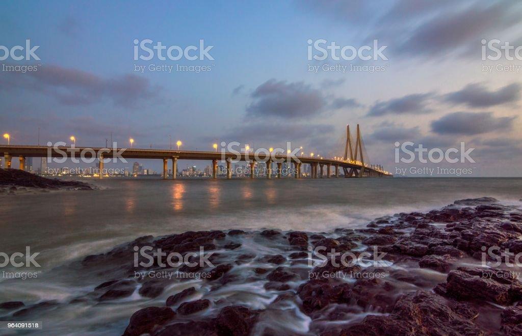 Mumbai Icon, Bandra Worli sea link, Mumbai India - Royalty-free Architecture Stock Photo