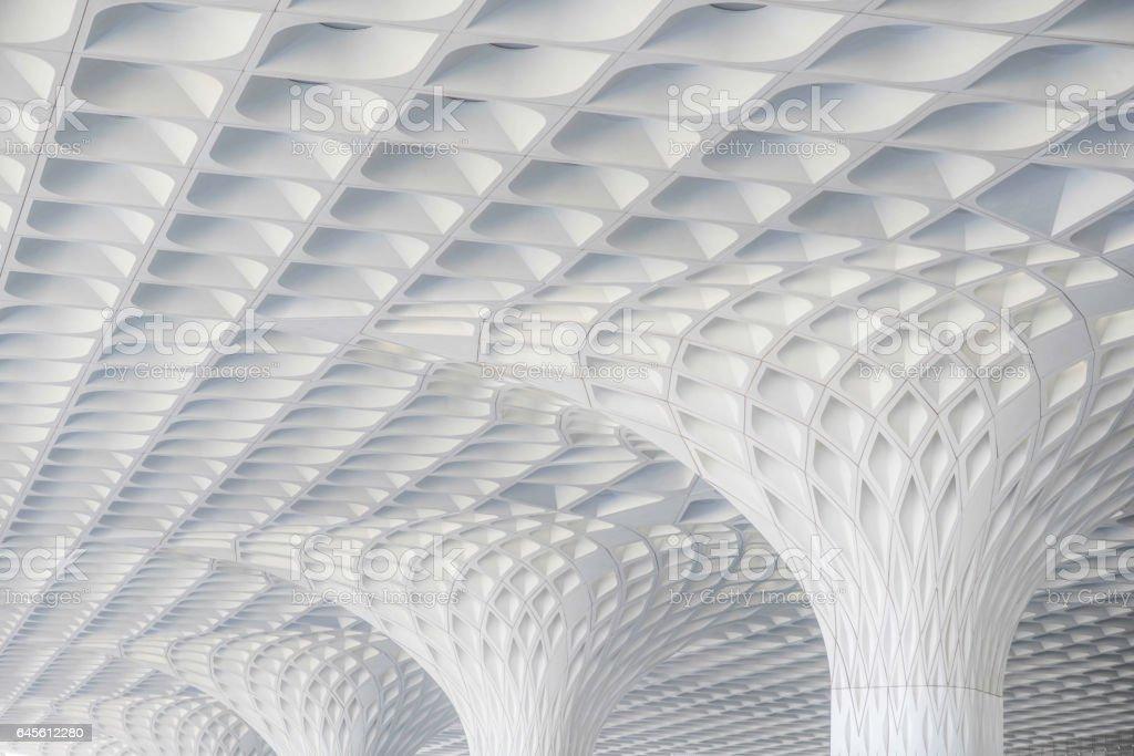 Mumbai international airport stock photo