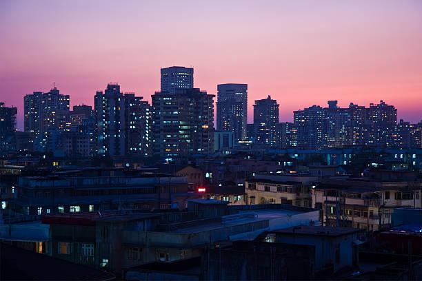 Mumbai skyline bei Nacht – Foto