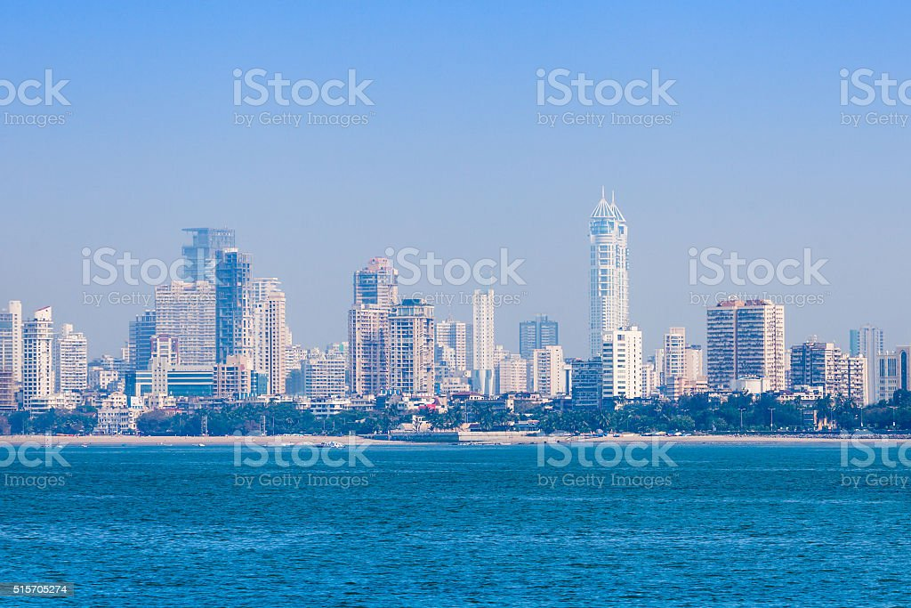 Mumbai skyline stock photo