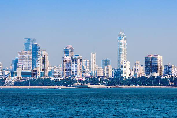 mumbai skyline - mumbai stockfoto's en -beelden
