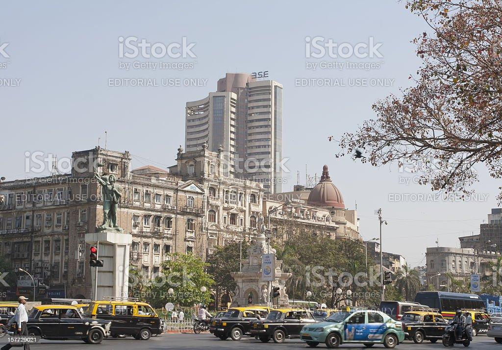 Mumbai street, India stock photo