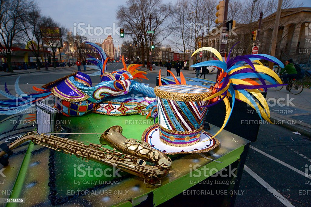Mummers Parade takes streets of Philadelphia on New Years Day stock photo