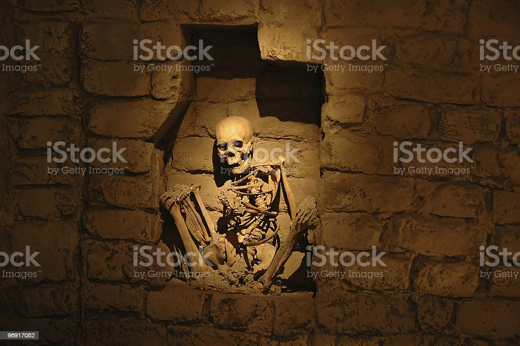 Mummy from ancient peruvian culture stock photo