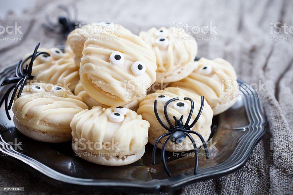 Mummy macaroons for Halloween – Foto