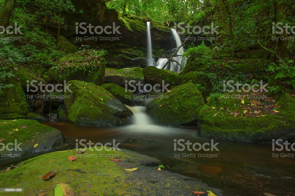 Mun Daeng waterfall, Phu Hin Rong Kla national park, Thailand stock photo