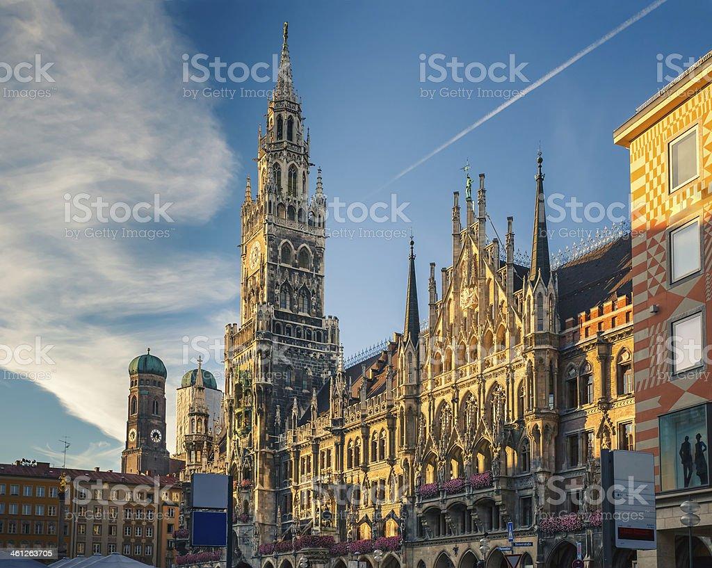 new town hall, München - Lizenzfrei Alt Stock-Foto